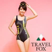 【TRAVELFOX 旅狐】極速競泳連身三角泳衣C14706