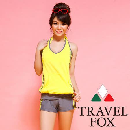 【TRAVELFOX 旅狐】活力四射四件式泳衣C14721