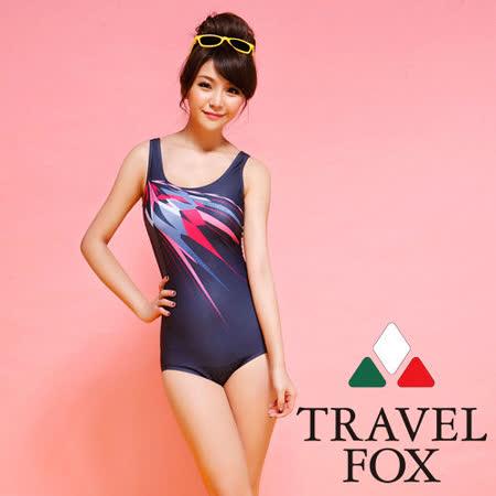 【TRAVELFOX 旅狐】競泳連身三角泳衣C14707