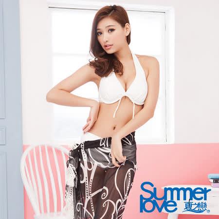 【SUMMERLOVE 夏之戀】浪漫黑色沙龍外搭裙E13715