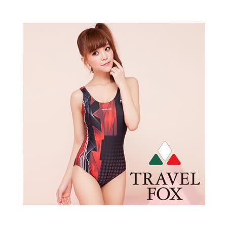 【TRAVELFOX 旅狐】時尚運動風連身三角泳衣C13725