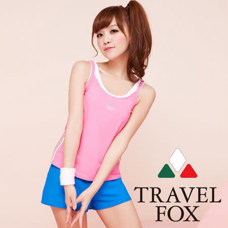 【TRAVELFOX 旅狐】多層次穿著長版三件式泳衣C13710