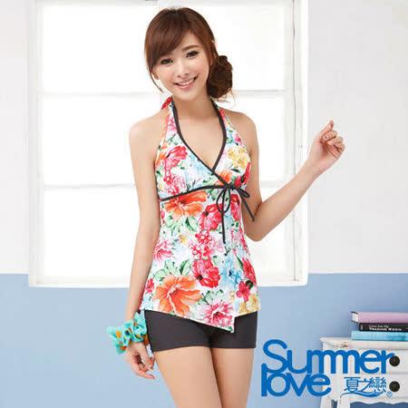 【SUMMERLOVE 夏之戀】夏日風情長版二件式泳衣E14724