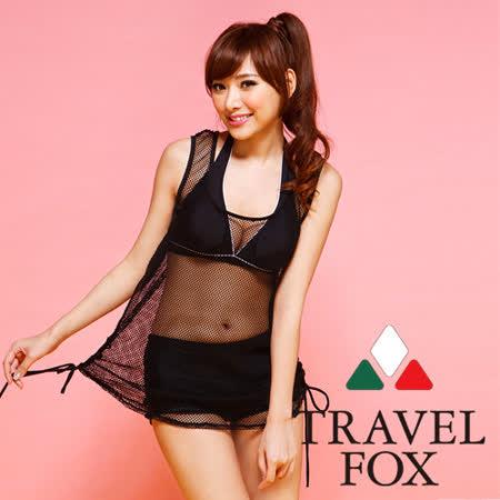 【TRAVELFOX 旅狐】美式俏麗外搭罩衫C14703-F