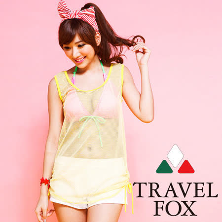 【TRAVELFOX 旅狐】美式俏麗外搭罩衫C14704-F