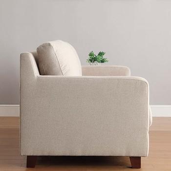 【日本直人木業】靜心文匯日式實用三人布沙發