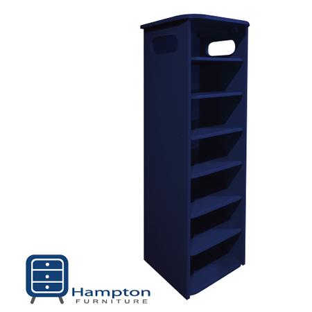 漢妮Hampton安琪拉七層鞋架-深藍