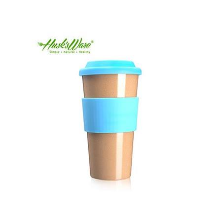 【美國Husk's ware】稻殼天然無毒環保咖啡隨行杯-綠松石藍