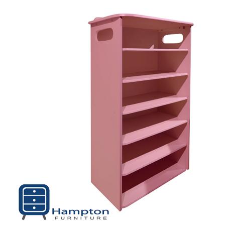 漢妮Hampton安琪拉六層鞋架-粉紅   免組裝