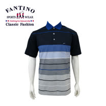【FANTINO】男款 漸層休閒百搭棉衫(附大尺碼)(藍)431114
