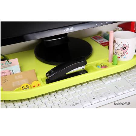 創意桌面螢幕桌上架/收納整理架(黃色)