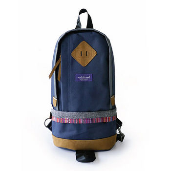 【Matchwood】Shoulder Bag 單肩後背包-海軍藍