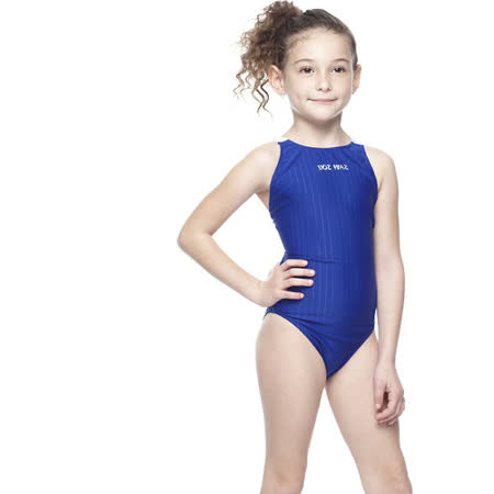 【SAIN SOU】競賽/泳隊女童連身三角泳裝附泳帽A87402-05