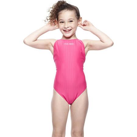 【SAIN SOU】競賽/泳隊女童連身三角泳裝附泳帽A87402-07