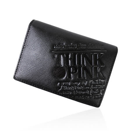 【THINK PINK】REAL SOUL 幻彩十字紋系列 名片夾(黑)