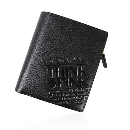 【THINK PINK】REAL SOUL 幻彩十字紋系列 拉鍊中夾(黑)