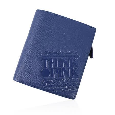 【THINK PINK】REAL SOUL 幻彩十字紋系列 拉鍊中夾(藍)