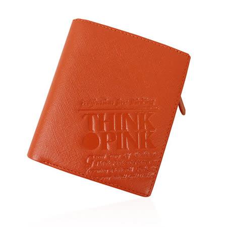 【THINK PINK】REAL SOUL 幻彩十字紋系列 拉鍊中夾(橘)