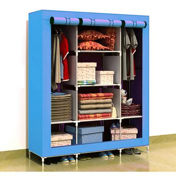 超大三排加寬加高8格簡易防塵衣櫃