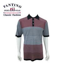 【FANTINO】男款 天然蠶絲雙彩拼接針織衫 (黑) 337303