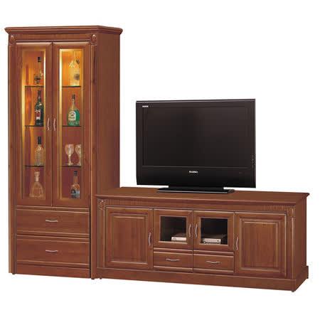 HAPPYHOME 建霖8.3尺樟木L型電視櫃803-1