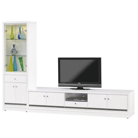 HAPPYHOME 詠佳9尺水鑽L型電視櫃805-4可選色