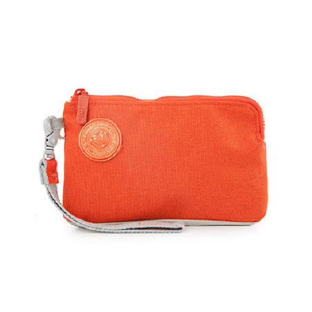 【Golla】北歐芬蘭 時尚極簡手腕包/手拿包/收納包/萬用包/零錢包(G1683)-橘