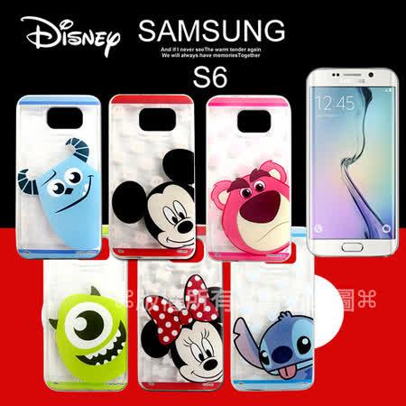 迪士尼授權正版 三星 Samsung Galaxy S6 G9200 大頭娃透明彩繪軟式保護殼 手機殼