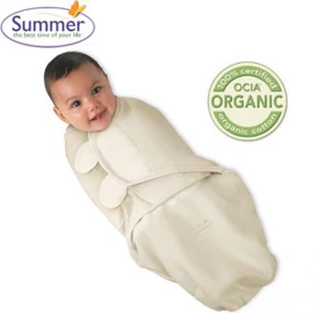 美國Summer Infant SwaddleMe 聰明懶人育兒包巾-加大-有機棉(天然色)
