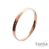 【TiMISA】格緻真愛-寬版 (玫瑰金) 純鈦手環