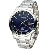 精工 SEIKO Kinetic 雙時區簡約時尚腕錶 5M85-0AC0B SUN031P1