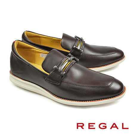 【REGAL】金屬鍊扣休閒皮鞋 咖啡(54HR-DBR)