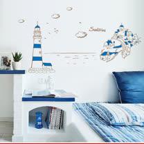 時尚壁貼 - 希臘愛琴海