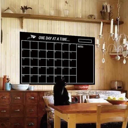 時尚壁貼 - 黑板方格日曆