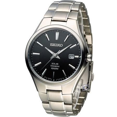 精工 SEIKO Solar 經典紳士【鈦】時尚腕錶-V157-0BB0D SNE377P1