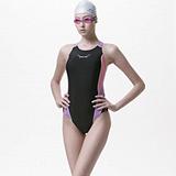 【SAIN SOU】競賽/泳隊/專業用大女連身三角泳裝加贈矽膠泳帽A97238-01