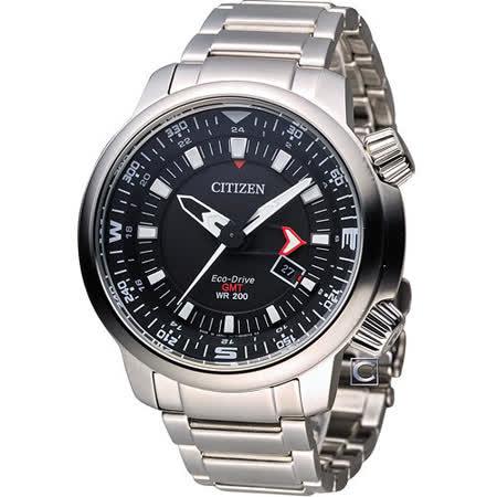 CITIZEN 星辰 光動能雙時區潮流腕錶 BJ7081-51E