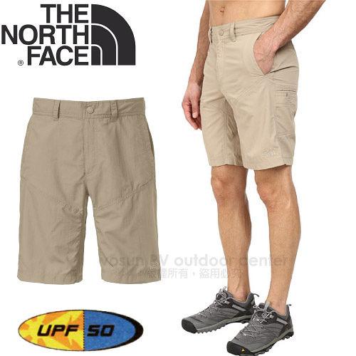 ~美國 The North Face~男 輕量透氣快乾10吋短褲.抗UV休閒短褲.防曬短褲