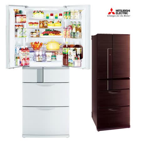 送14吋電扇★三菱525L日本原裝變頻六門電冰箱MR-JX53X