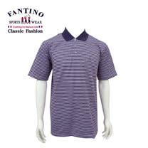 【FANTINO】男款 舒適好感.多層次線條POLO棉衫 (綠.紫) 431101.431102