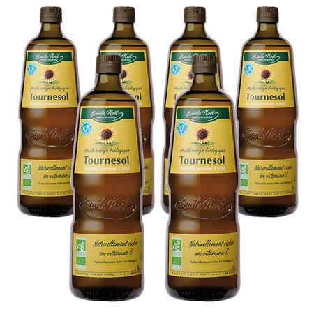 【法國艾米爾諾耶】100%有機冷壓初榨葵花籽油(500ml*6pcs)