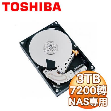 Toshiba 東芝 3TB 3.5吋 64M快取 SATA3 NAS專用硬碟(MD03ACA300V)