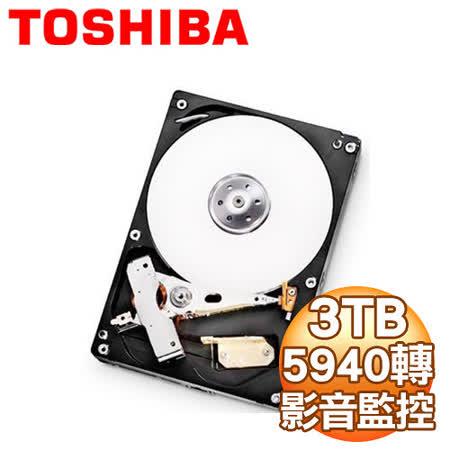 Toshiba 東芝 3TB 3.5吋 32M快取 SATA3影音監控硬碟(DT01ABA300V)