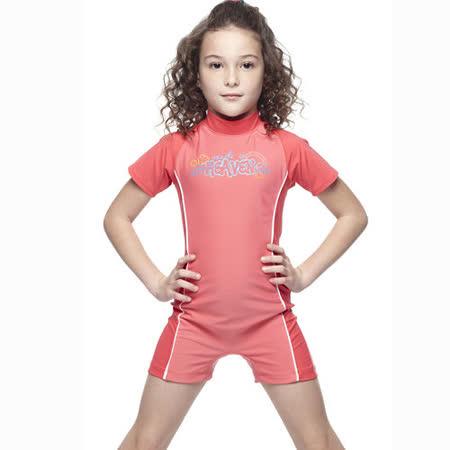 【SAIN SOU】女童連身水母衣泳裝附泳帽A80401