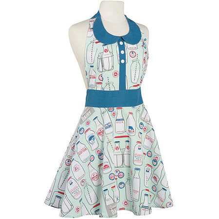 《NOW》洋裝式圍裙(牛奶)