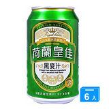 荷蘭皇佳 B群黑麥汁330ml*6罐/組