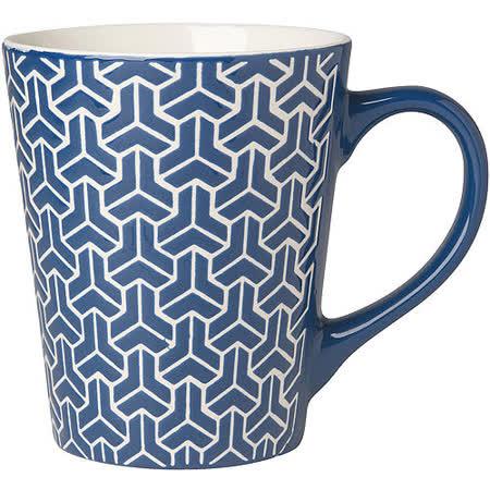 《NOW》雕紋馬克杯(深藍375ml)
