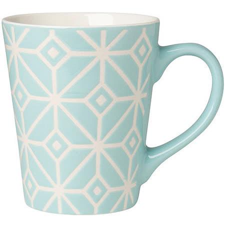 《NOW》雕紋馬克杯(淺藍375ml)