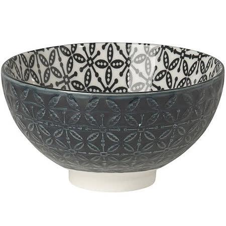 《NOW》雙色壓紋餐碗(黑)
