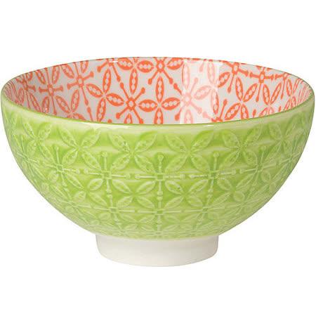 《NOW》雙色壓紋餐碗(綠)